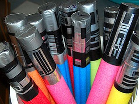 Need to make light sabers out of the library's old pool noodles! They would be so awesome!