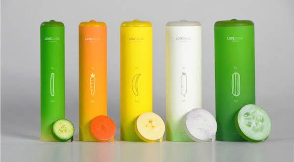 Condones de diferentes tamaños, con tallaje vegetal