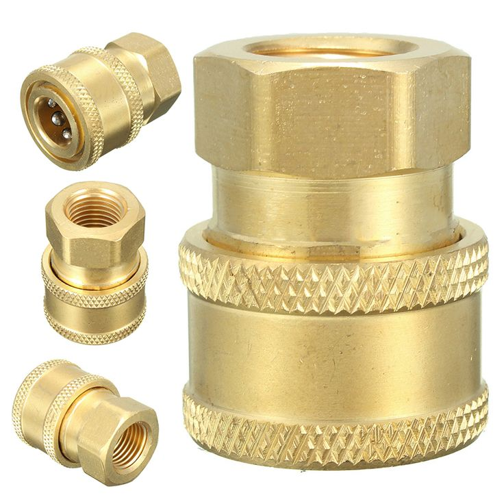 1/4'' Pressure Washer Hose Connector Adaptor To 1/4 Female Garden Watering Spray Gun Tools Faucets Connect Fitting Pipe Mayitr