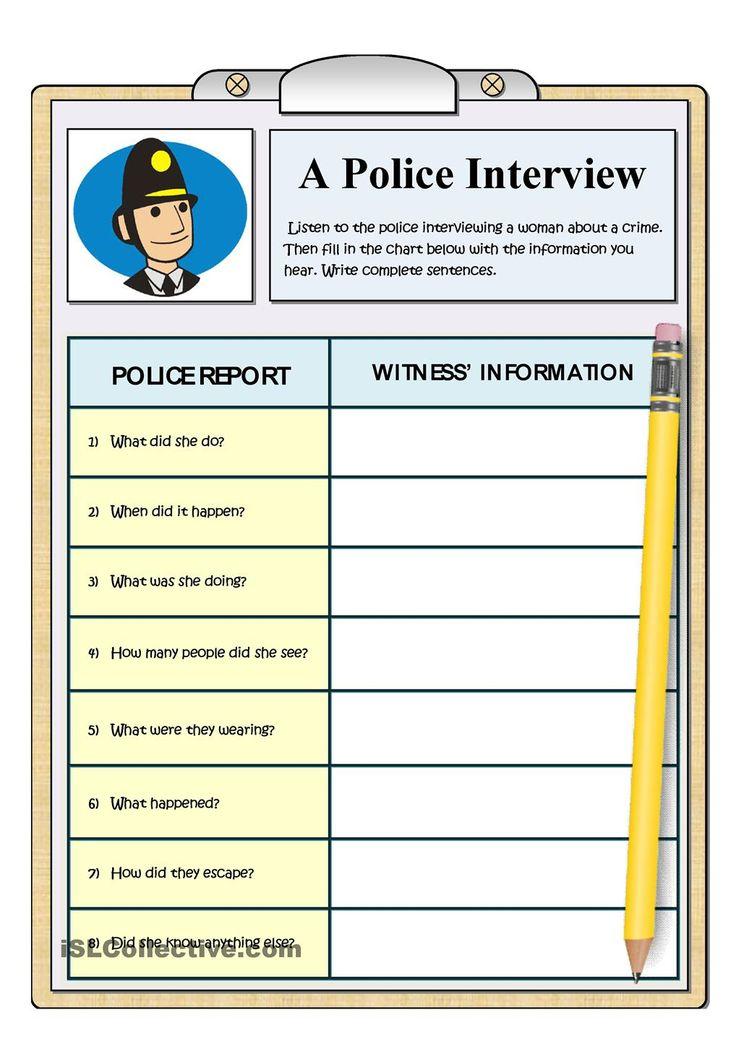 A POLICE INTERVEW - LISTENING