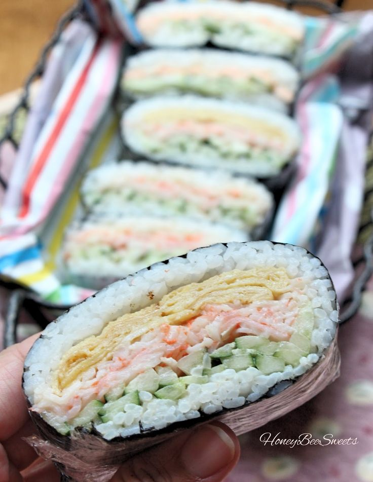 Honey Bee Sweets: Onigirazu (Japanese Rice Ball /Sandwich) – Espo_Monsterchen
