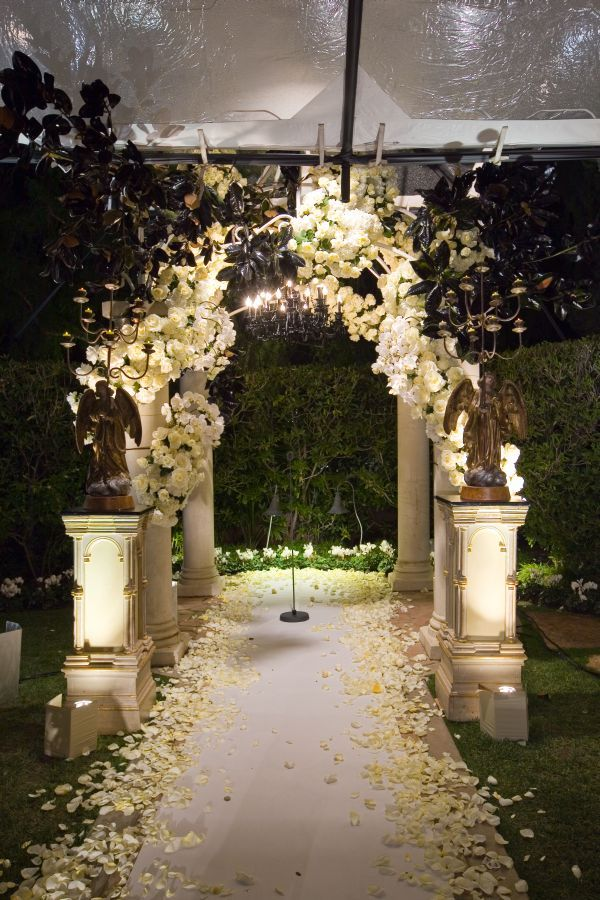 Repinned:A Dramatic, Gothic Wedding At Beverly Hills Hotel By Mindy Weiss.
