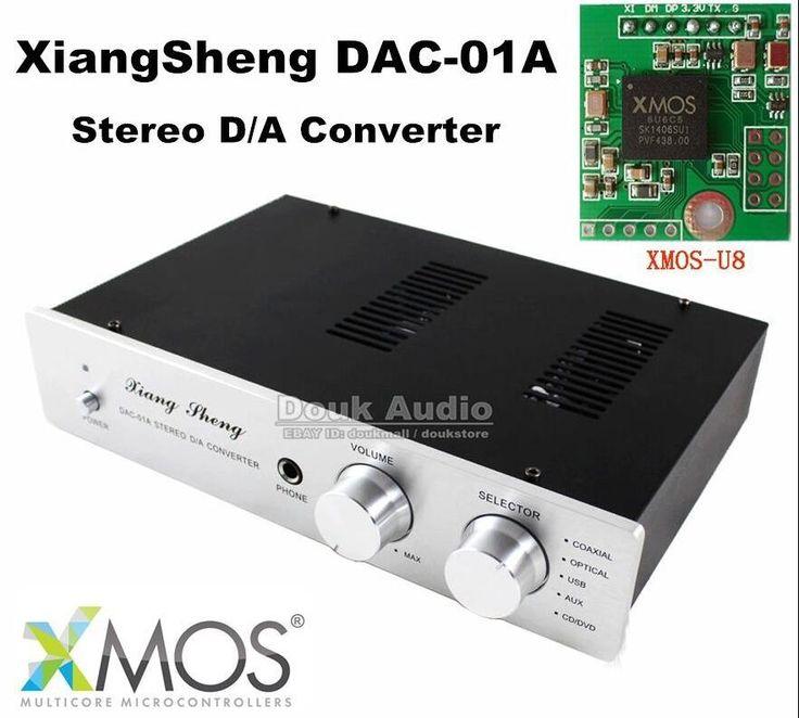 199.00$  Buy now - http://aliujc.worldwells.pw/go.php?t=32684911354 - Music hall XiangSheng DAC-01A XMOS-U8 USB DAC Tube Stereo D/A Converter Headphone Amplifier 199.00$