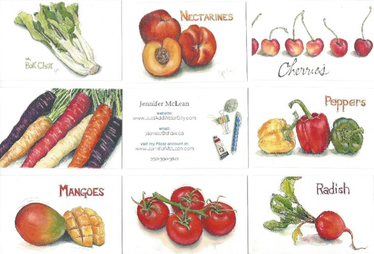 Moo.com business cards with all your art on one side, your website & name on the other!