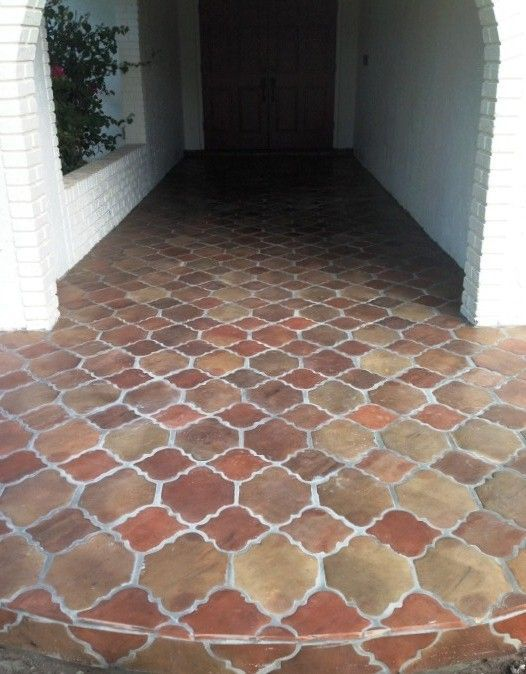 Manganese Saltillo Tile In The Riviera Pattern Applied On