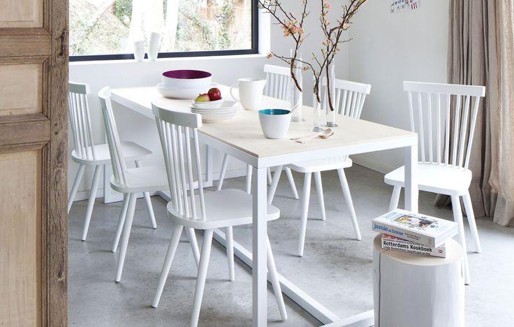 vtwonen collection 2014-2015 | photographer: Jansje Klazinga stylist: Frans Uyterlinde #vtwonen #magazine #interior #collection #diningroom #white