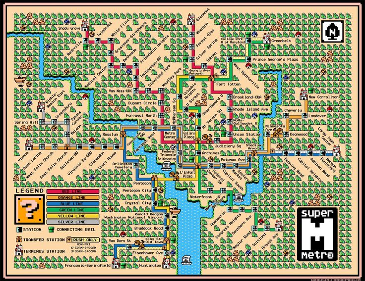 74 best game maps images on pinterest maps cards and videogames washington metro map mario style by dave delisle gumiabroncs Image collections
