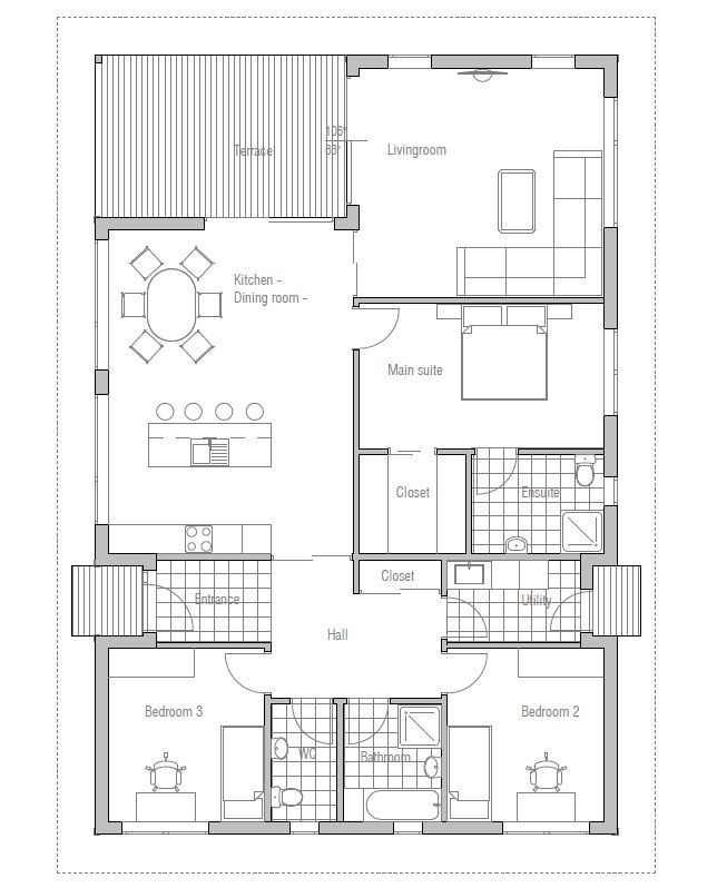 Affordable small house plan ch72 from for Concept home com