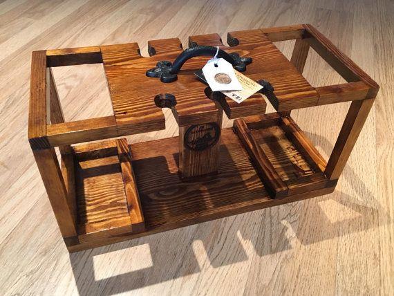 Handmade wine caddy by JBWoodworksGlasgow on Etsy