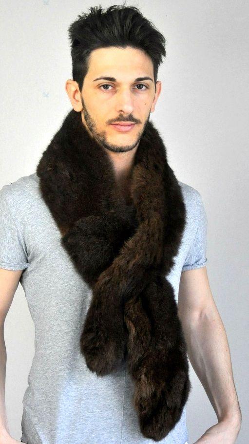 Possum fur scarf for men  www.amifur.co.uk