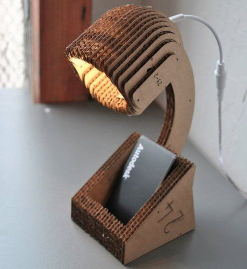 Make an LED Lamp From a Single Sheet of Cardboard. So cool!