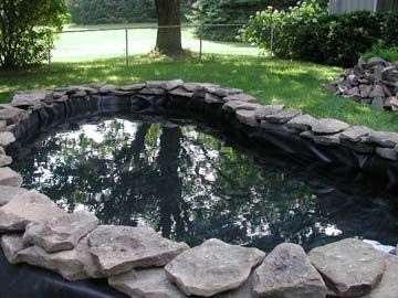 how to make a small duck pond