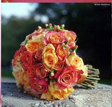 Autumn wedding bouquet.