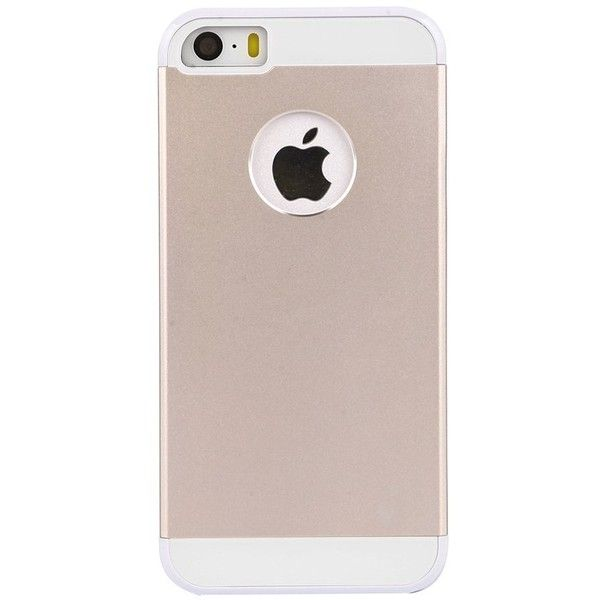 Amplim Apple iPhone 5S 5 Gold Premium Slim Case 7H Aluminum Metal On... ($20) ❤ liked on Polyvore featuring accessories, tech accessories and gold smartphone