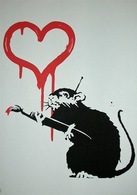 Banksy's Love Rat |