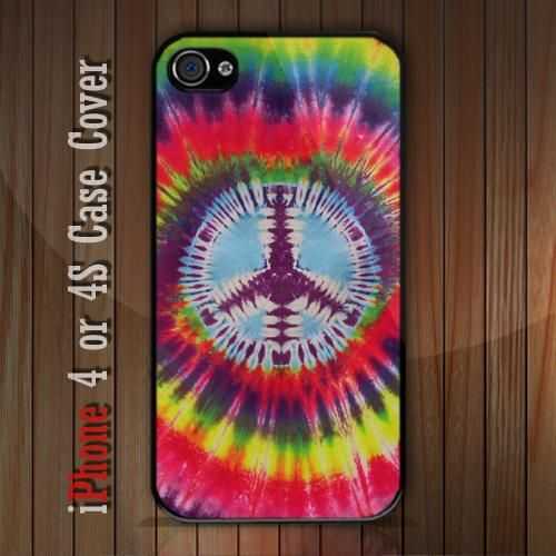 New Tie Dye Peace iPhone 4 or 4S case Cover iPhone case 4/4S - 1