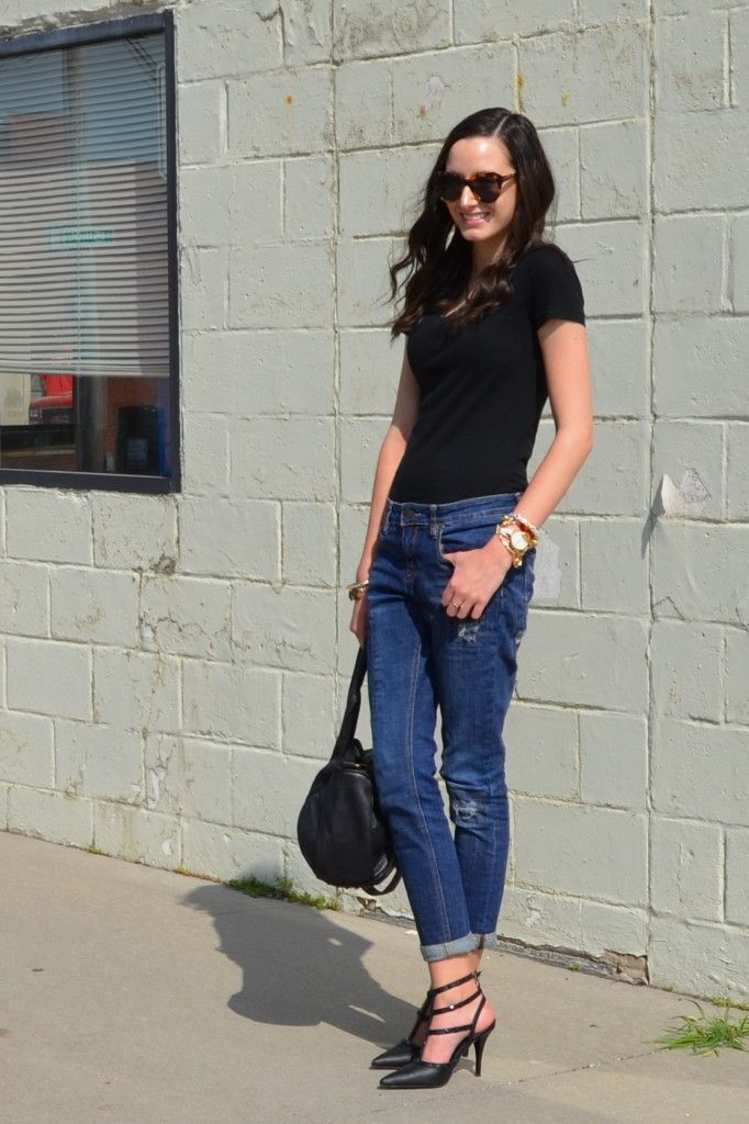 Best 25+ Boyfriend jeans heels ideas on Pinterest | Women ...