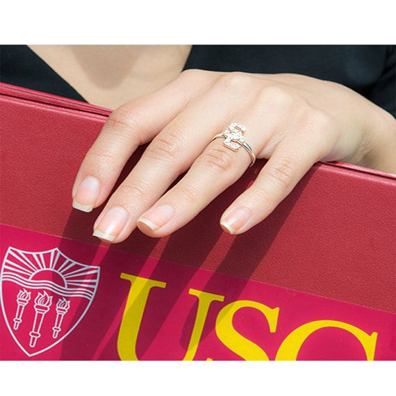 University of Southern California Sterling by Mdelaluzjewelry