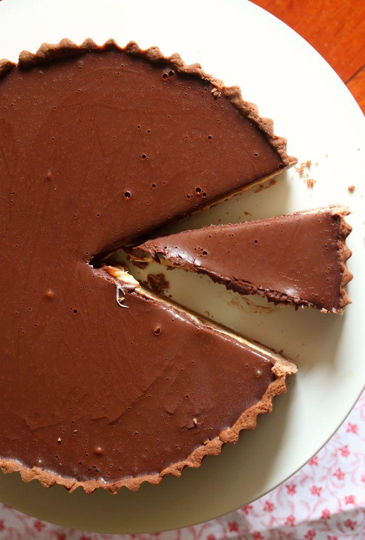 ... with warm chocolate ganache chocolate ganache chocolate ganache tart