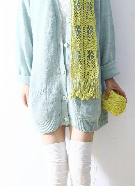 crochet scarf - LOVE this!