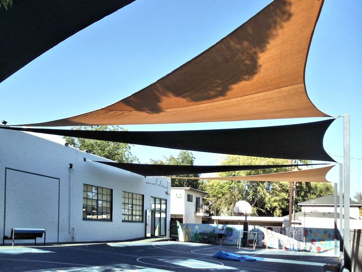 Shade Sails AndTension Structures | Superior Awning on structure and poles