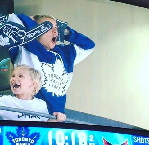 Justin and Jaxon the toronto maple leafs game