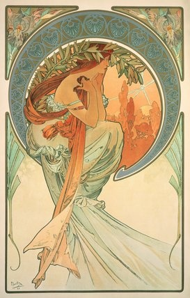 The Arts Poetry 1898 Giclee Print By Alphonse Marie Mucha