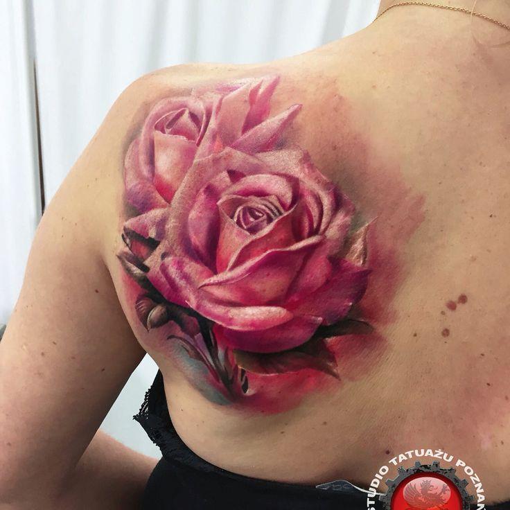 Rose Tattoo. Artist Dominik Szymkowiak. Artline studio www.arttattoo.pl