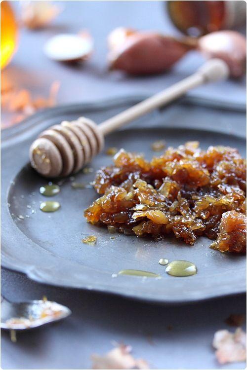 Confit d'échalotes au miel et confiture de figues