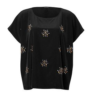 Belle Curve Reach For The Stars Studded Top – Target Australia