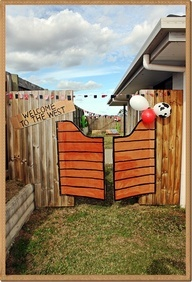 DIY saloon doors for a wild west cowboy party