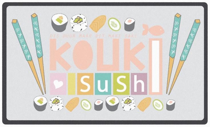 KOUKI LOVES SUSHI  Digital Illustration,part of World Map Colours series