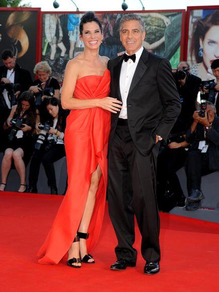 George Clooney y Sandra Bullock captando todas las miradas en la mostra de Venecia