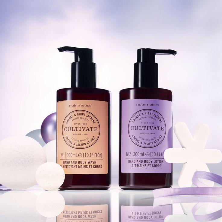 Cultivate Orange & Night Jasmine Hand & Body Duo 300ml each. To order visit www.nutrimetics.com.au/jessporter