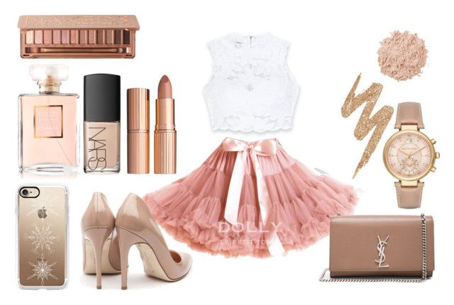 """""""My prom outfit"""" by tess-302 on Polyvore featuring Bebe, Rupert Sanderson, Yves Saint Laurent, Casetify, Michael Kors, Chanel, Urban Decay, NARS Cosmetics, La Mer and Charlotte Tilbury"""