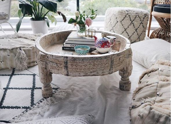 Enjoy your morning tea in style! 😊😍 Featuring our grinder table wonderfully styled by @emilykharle! This is mixing and matching at it's finest! 🙌🏼 #Vast #TheMomentMakers #table