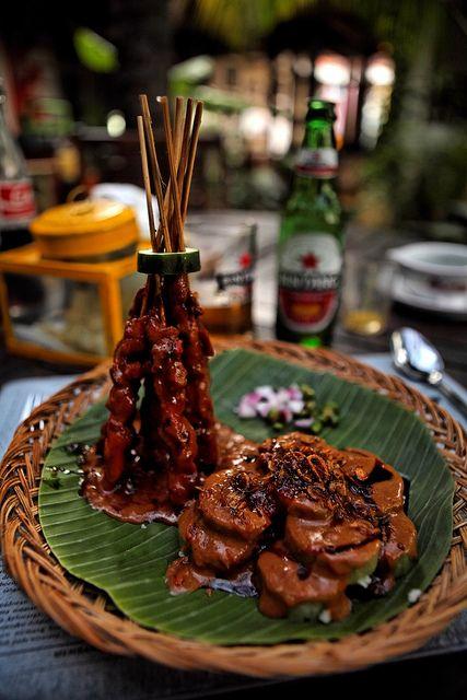 Saté Kambing, Pesta Keboen (Restaurant), Semarang, Java, Indonesia.