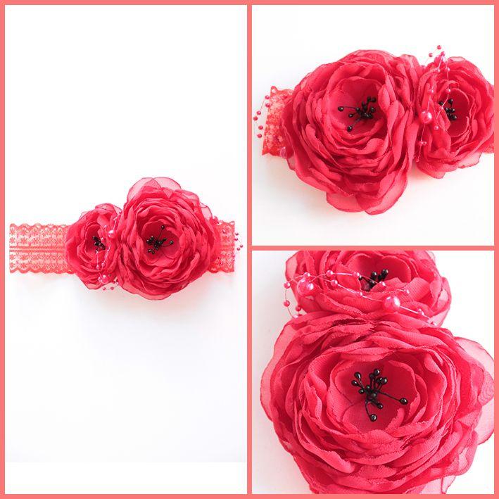Siyah tomurcuklu kırmızı saç bandı SB102  Fiyat bilgisi ve satın almak için; http://www.minilola.com/siyah-tomurcuklu-kirmizi-sac-bandi