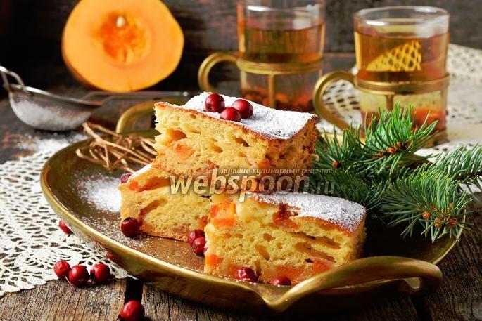 Фото Заливной пирог с тыквой