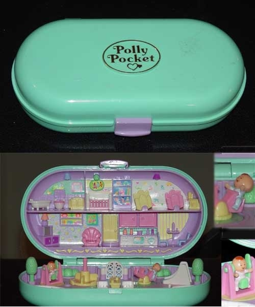"""These were bomb back in the day:: Back when Polly actually fit in your pocket. And no one had to tell us, """"Don't choke on Polly Pocket"""", because we werent stupid enough to eat her."""