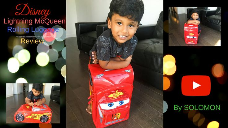 Lightning McQueen Rolling Luggage  Review