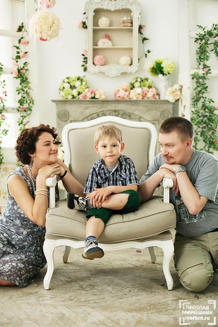 семейная фотография в студии