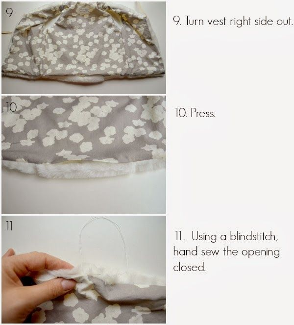 Faux Fur Vest Tutorial