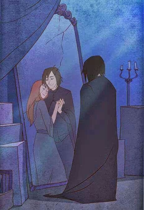 Mirror of Erised. Snape and Lily