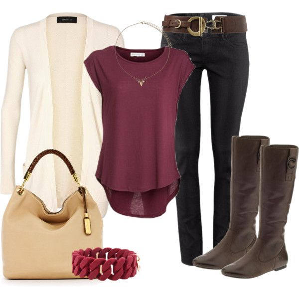 black, creme and plum....lovin it!Fall Clothing, Casual Outfit, Clothesihav Needtostylebett, Cream Jeans, I Love Fall, Causal Wear, Fall Outfit, Black Jeans, Burgundy Cream