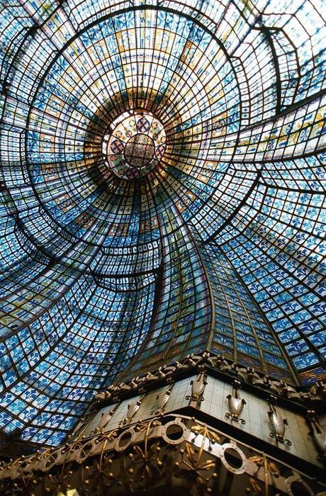 Paris, France... Interior view of the Grand Palais dome. How amazing! Such