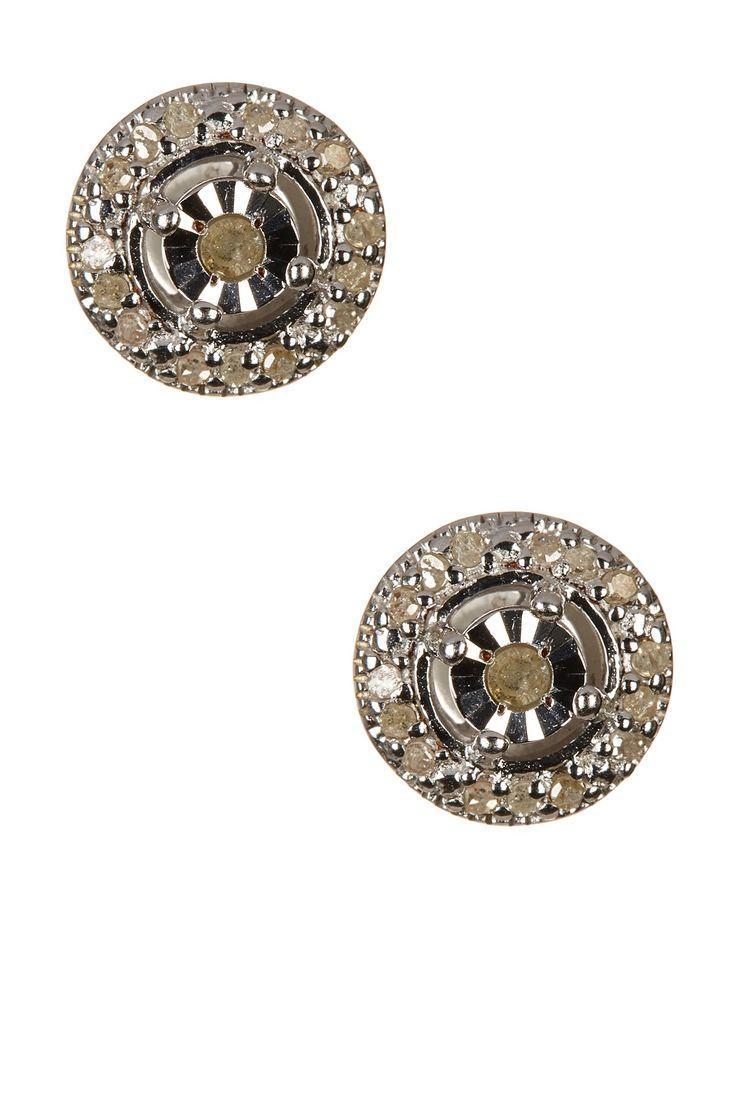 White Diamond Stud Earrings - 0.20 ctw by Savvy Cie on @HauteLook
