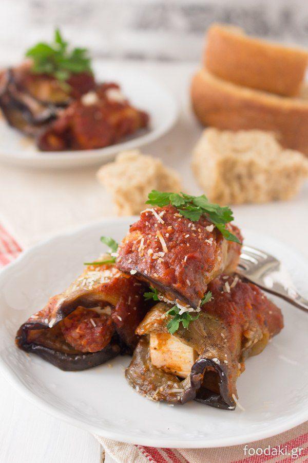 ρολά μελιτζάνας - eggplant rolls