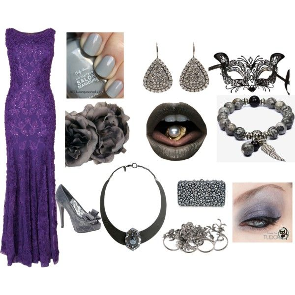 """""""Grey and purple formal outfit!!!"""" by soccerfashionrocker on Polyvore"""