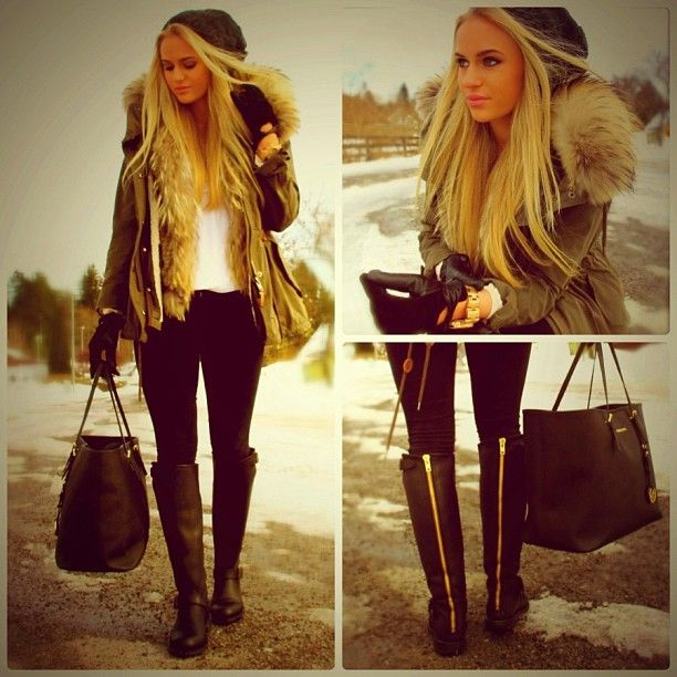 Lovely winter outfit, where are these boots from though?
